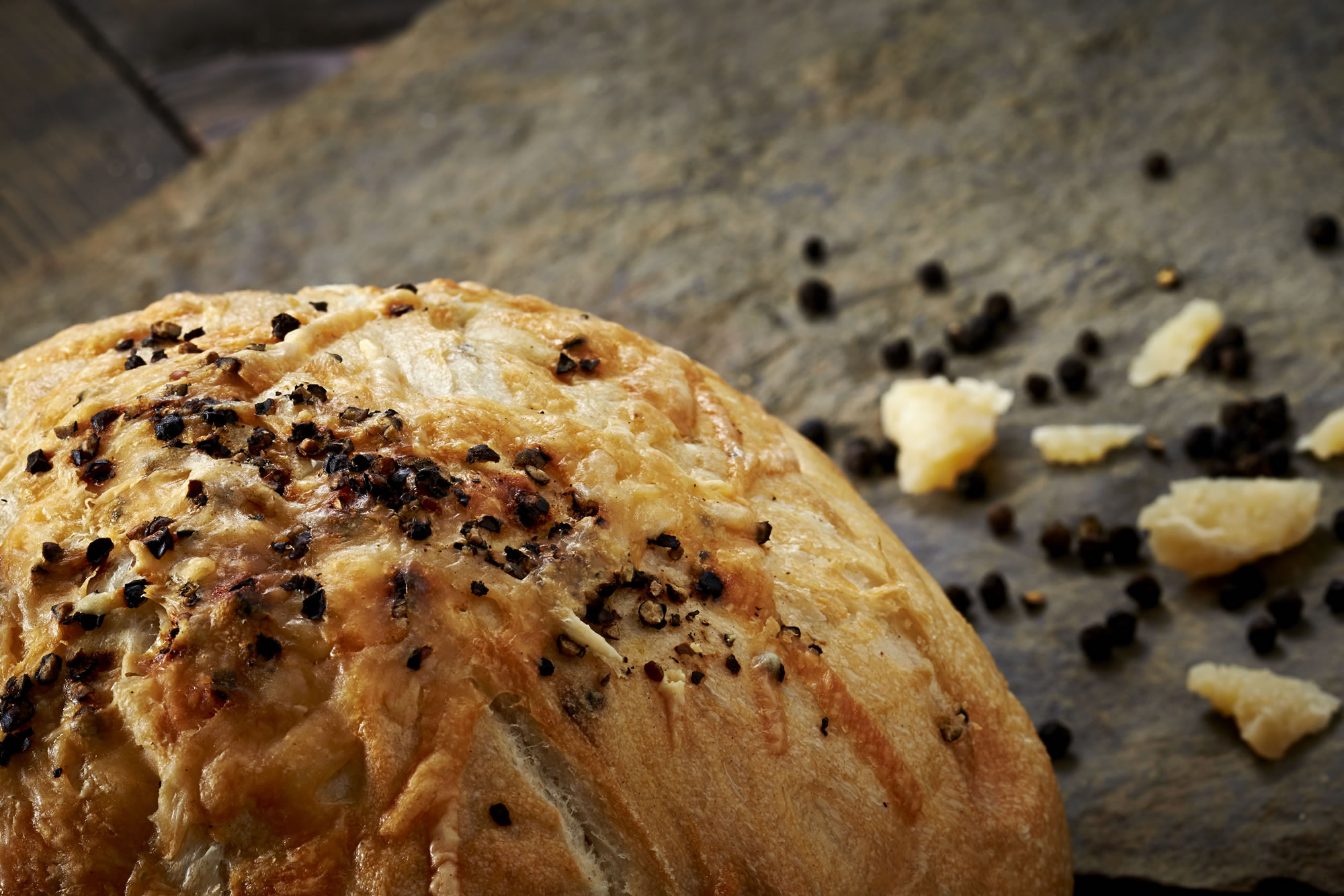 ... pepper corns. A visually beautiful loaf, it's ideal with pasta or