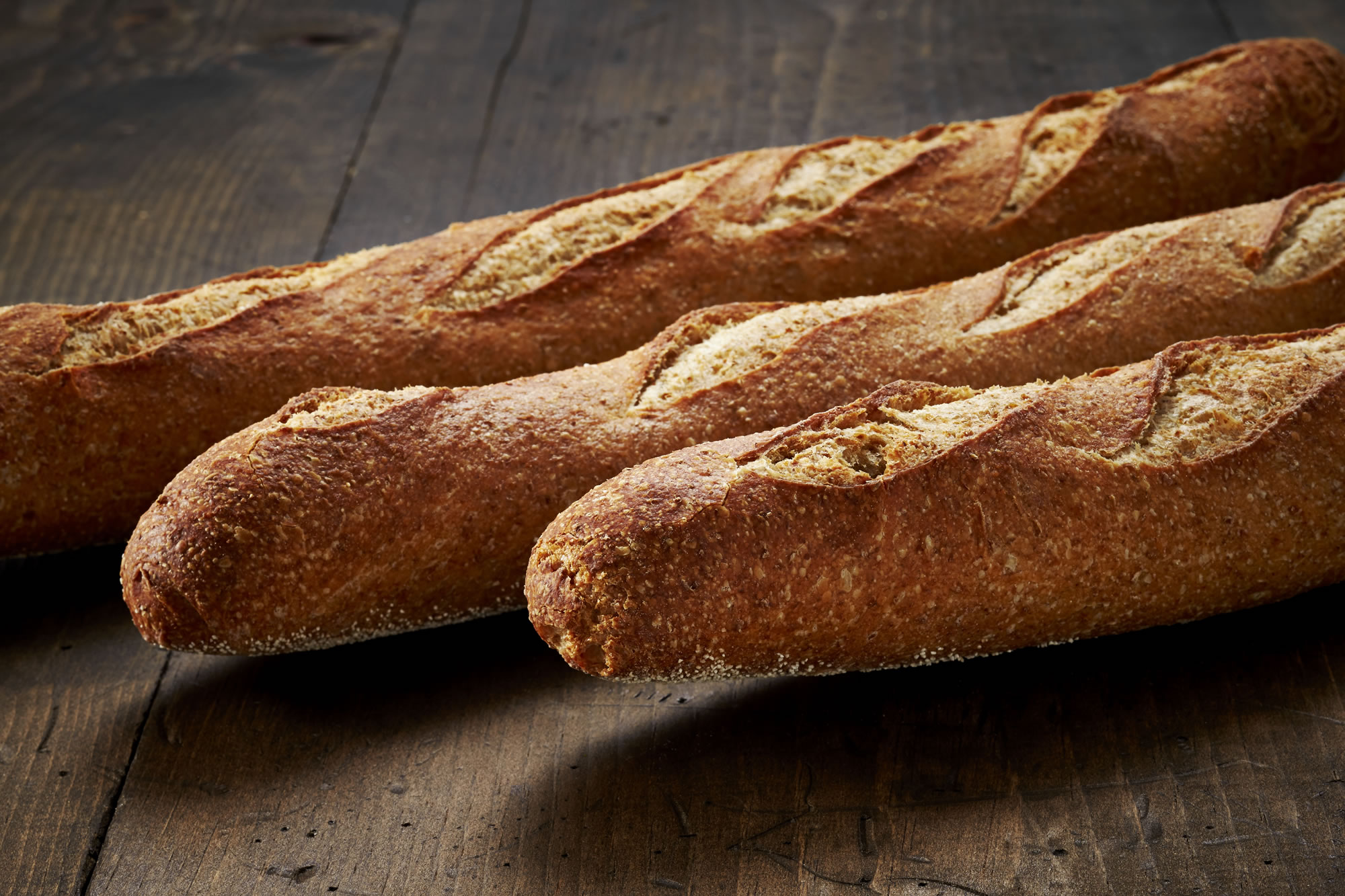 Country Wheat Baguette - Crest Hill Bakery - Artisan Bread Wholesaler