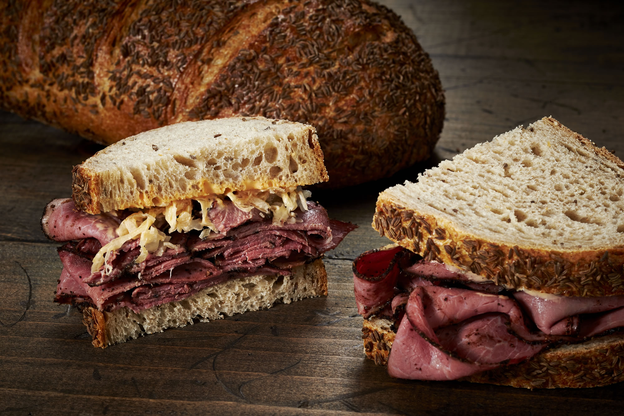 ... of a New York deli, especially with heaps of tender pastrami