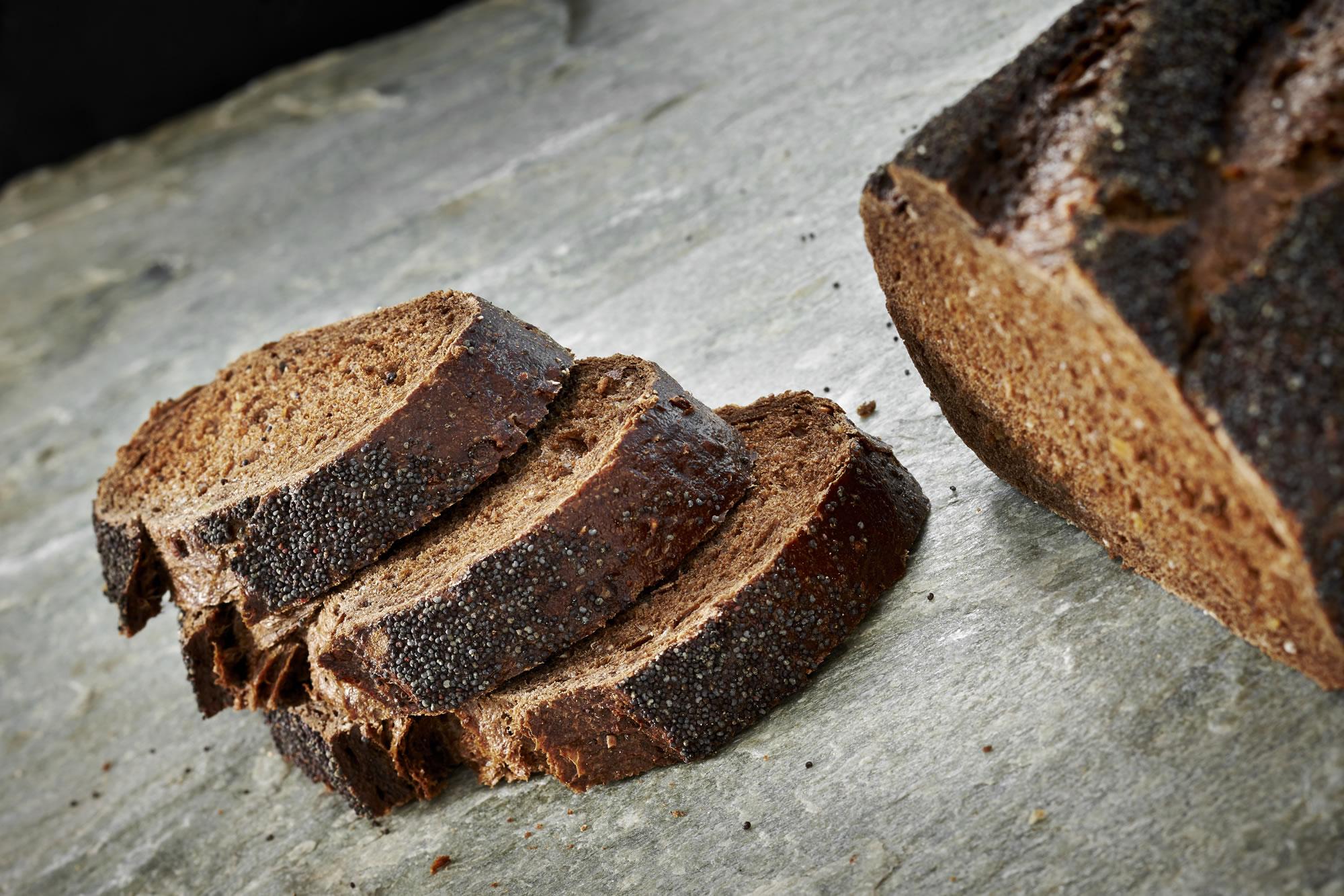 bread black bread 01 black bread bread machine black bread crumb black ...