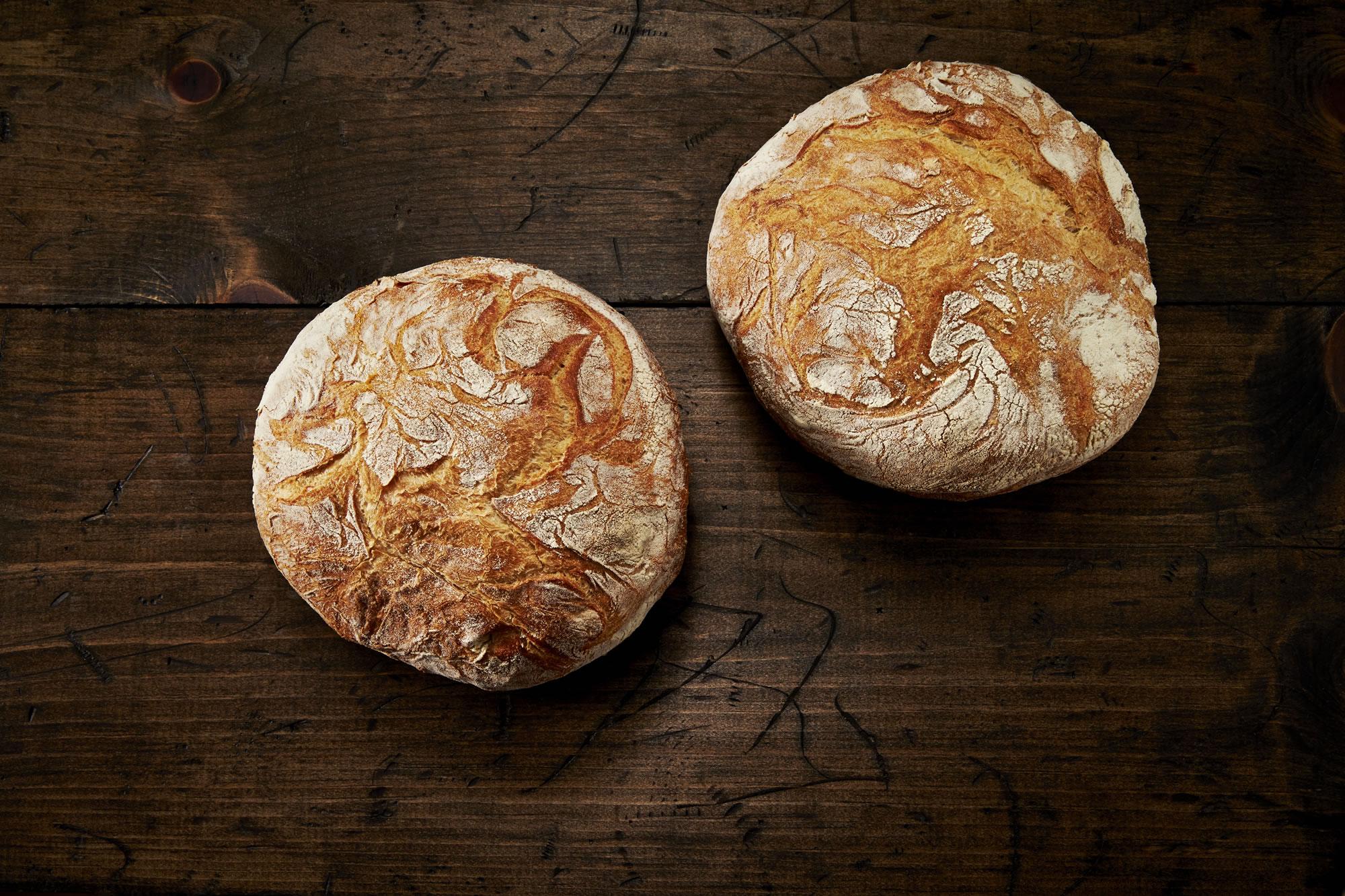 rustic italian bread round - crest hill bakery - beltsville, md